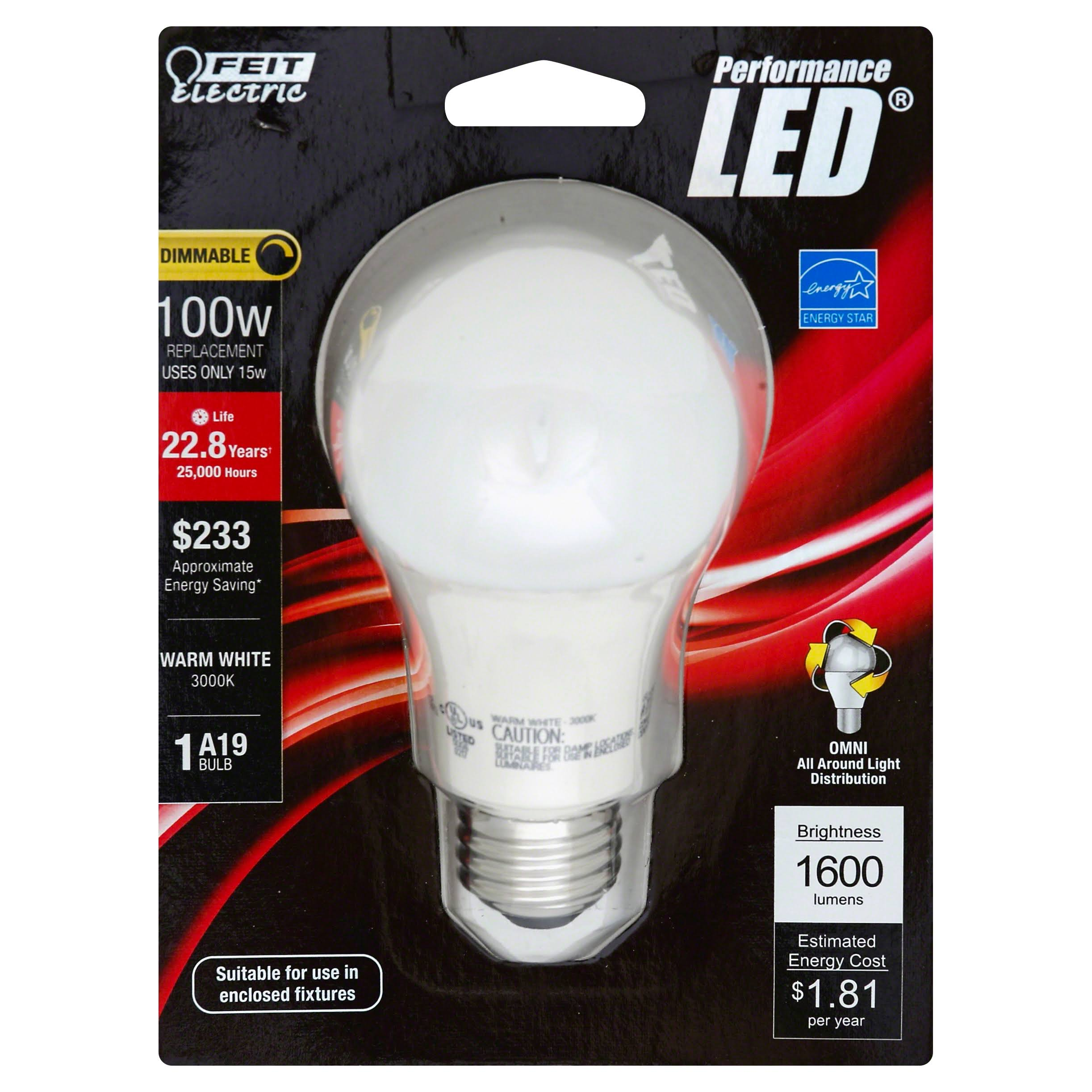 Feit Electric Dimmable Led Light - 120V, Soft White, 22W