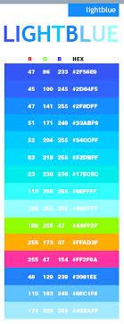 Light Blue Color Scheme Web Colors