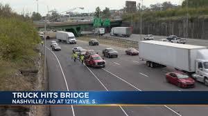 100 Nashville Truck Accident Lawyer Police Searching For 18wheeler That Hit Bridge Damaged Car Left