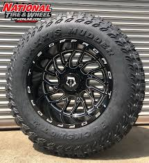 100 Truck Rims And Tires Package Deals 20X12 TIS Type 544 Mounted Up To A 37X1350R20 Maxxis Buckshot