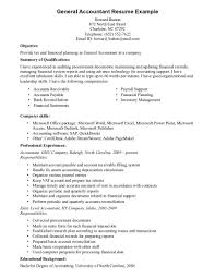 Sales Associate Resume Examples General Accountant Example