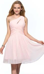 pink keyhole one shoulder short bridesmaid dress uk ksp388 ksp388