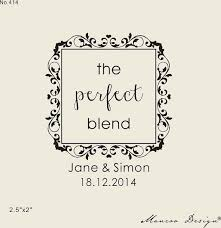 Free Shipping The Perfect Blend Wedding Coffee Tea Favor Stamps Rustic Stamp Custom