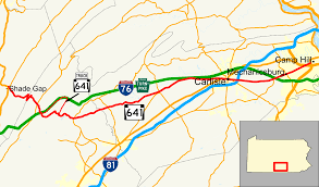 100 Truck Route Map Pennsylvania 641 Wikipedia