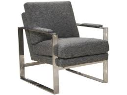 100 Modern Metal Chair Meridian Contemporary With Padded Arms By Jackson Furniture At L Fish