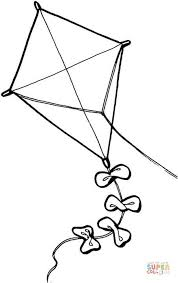 Click The Kite Coloring Pages To View Printable Version Or Color It Online Compatible With IPad And Android Tablets