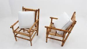 vintage bambus wohnzimmer set 1950er 3er set