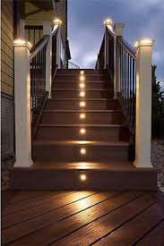 10x12v 30mm warm cold white outdoor stairs yard led deck rail step