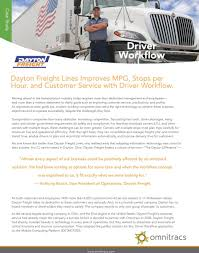 100 Dayton Trucking Freight Lines Improves MPG Stops Per Hour And Customer
