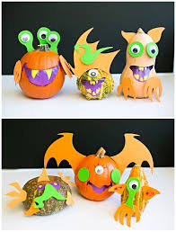 Ways To Carve A Pumpkin Fun by Easy Mix And Match Monster Pumpkins Fun No Carve Pumpkin