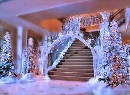 Frozen Snow Covered Trees And Arch Entrance Quinceanera