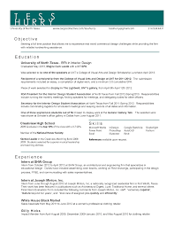 Gallery of Interior Designer Resume Example