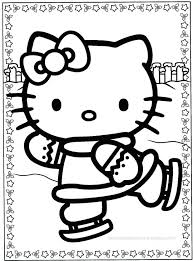 Hello Kitty Valentine Coloring Pages Free Printable Christmas To Print Page