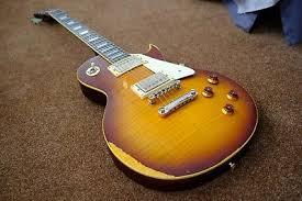 Vintage Guitars Les Paul Lp V100 Aged Tobacco Sunburst V100Mrtsb Relic