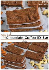 Copycat Chocolate Coffee RX Bars Paleo No Bake