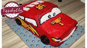 cars torte selber machen anleitung lightning mcqueen für kindergeburtstag