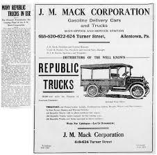 100 Jm Truck Sales File1917 J M Mack Corporation Newspaper Ad Allentown PAjpg