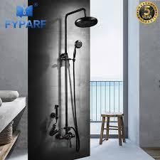 fyparf dusche armaturen luxus bad dusche sets badezimmer wand montiert dusche kopf kit dusche wasserhahn set mit bidet tippen