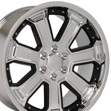 100 Black And Chrome Rims For Trucks 22x95 Wheel Fits GM Truck SUV Silverado Style DD Rim W