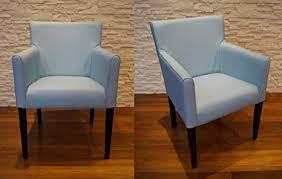 quattro meble blau echtleder esszimmerstühle arm braun