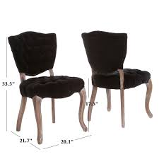 Elma Tufted Black Fabric Dining Chairs (Set Of 2) - Walmart.com Ding Chair Black Leather Kitchen Chairs Buy Fabric White And Room Sets Amazoncom Set Of 2 Modern Upholstered Naples Grey Vintage Pack Two Modish Synnes Black Rouse Home Ashford X Canterbury Lvet Fabric Ding Room Chairs Scroll Top High Back Reed Farmhouse Bri Metal Frame With Arms Colt Low Back Armchair O G Studio 4 Matching Satina With Stud Detail 82 Off Macys Patterned