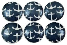 Nautical Drawer Pulls Canada by Navy Nautical Anchor Knobs 6 Piece Set Beach Style Cabinet