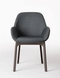 fauteuil de bureau tissu fauteuil rembourré clap tissu pieds plastique graphite pieds