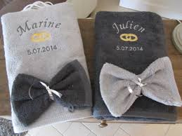 serviette de bain personnalisée mariage my