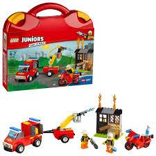 LEGO Juniors Fire Patrol Suitcase 10740 (110 Pieces) - Walmart.com