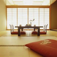 Dining RoomClassy Japanese Room Furniture With Base Chair And White Sliding Door