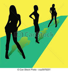 Runway Fashion Show Clipart 1