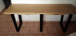 bureau bois recyclé o bois recyclé création d une console industrielle
