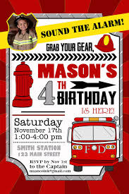 Cool Firefighter Birthday Invitation Ideas | Bagvania Invitation ...