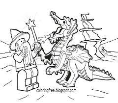 Supernatural Kingdom Childrens Mythology Lego Men Minifigure Dragon Coloring Simple Book Worksheets