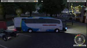 100 Uk Truck Simulator UK Mood Bus Indonesia Gameplay PC YouTube