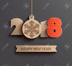 Happy New Year 2018 Design Royalty Free Cliparts Vectors And