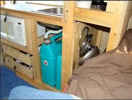 Installing Galley Cabinet Sink Fridge Stove