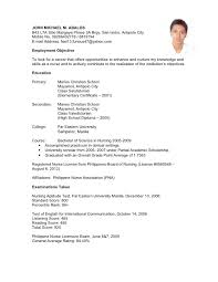 Resume Format Philippines 37 Best Undergraduate With No Experience Unique For Highschool Of 29