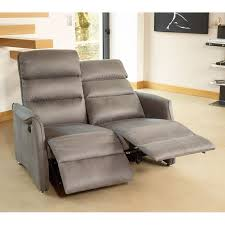 canapé relax 2 places électrique canapé relax électrique 2p gris softy univers salon tousmesmeubles
