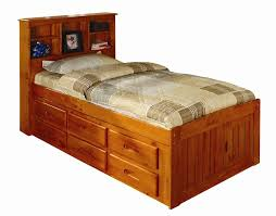 Queen Size Waterbed Headboards by Bed U0026 Bedding Twin Captains Bed With 4 Drawers And Bookcase