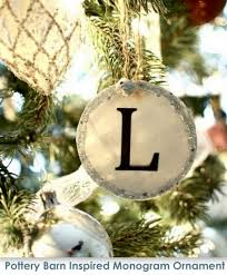 Pottery Barn Inspired Monogram Ornaments featuring Aimee from It s