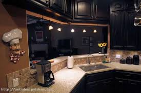 Painted Black Kitchen Cabinets Before And After Painting Old