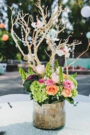 Themed Wedding Centerpiece Rustic Chic At Walnut Grove Would Be Cute With Deer Antler Incorporated Instead Of Branches
