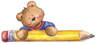 Bear With Pencil Clip Art