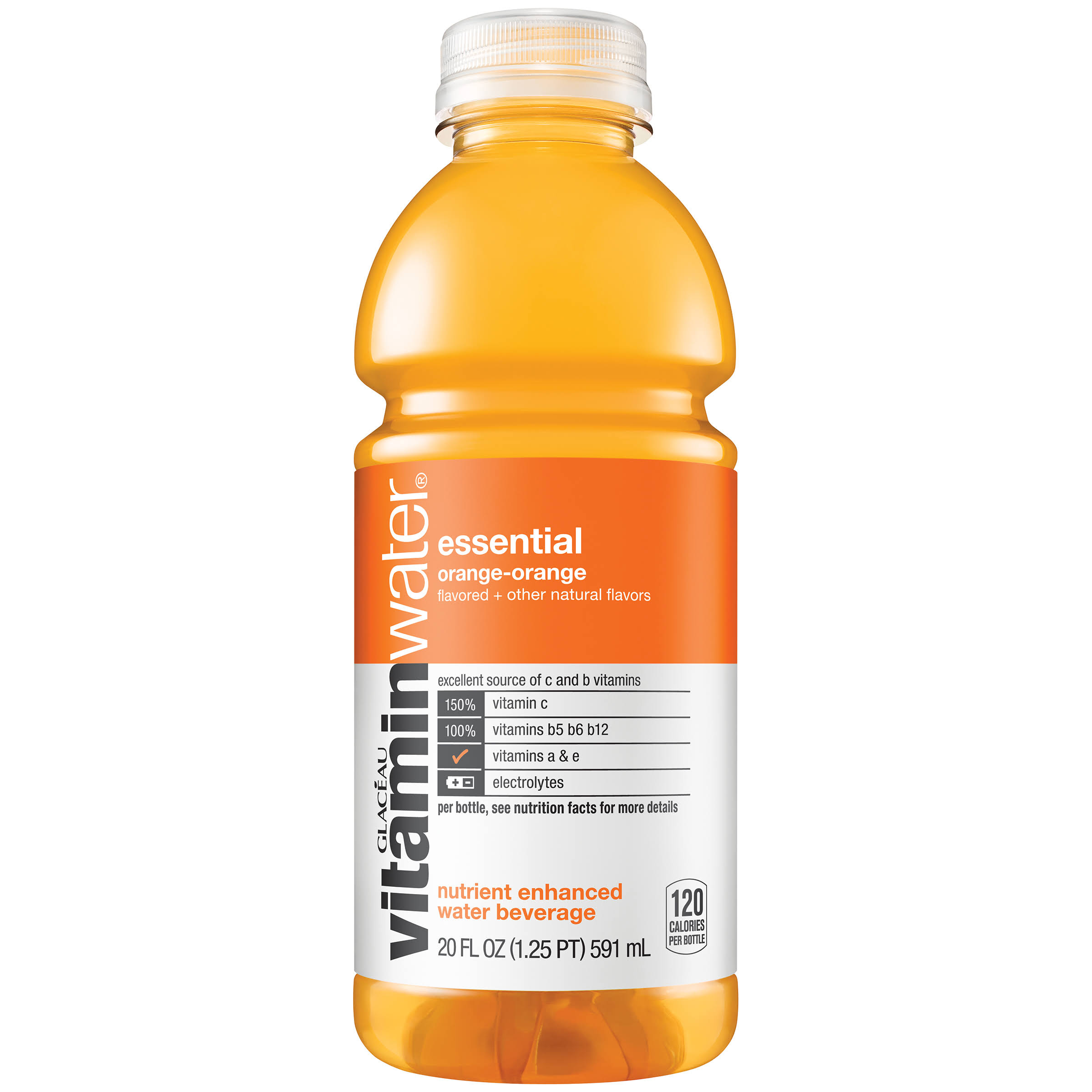 Vitaminwater Essential Water Beverage - Orange, 591ml
