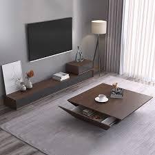 tisch aus holz design wohnzimmer tv monitor stand mueble marmor leder oval rand schrank tv stand tisch kaffee centro tisch