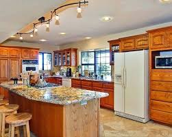 track lighting kitchen pictures island sloped ceiling fixtures