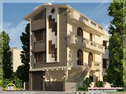 Story Building Design by Apartment Three Floor House Elevation Modern House