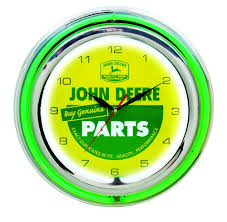 John Deere Bedroom Decor by Amazon Com John Deere 15 Inch Double Neon Wall Clock Genuine