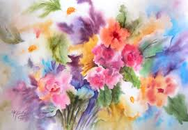 SPRING DREAM Floral By Watercolor Artist Martha Kisling